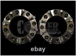 Set of 2 Skid Steer Wheel Spacers 2 8 Lug Bobcat Case John Deere CAT Terex