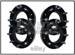 Set of 4 Skid Steer Wheel Spacers 2 Steel 8 Lug Bobcat Case John Deere Terex