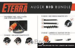 Skid Steer Auger Big Bundle Save Bundles! Contractor's Package Eterra 4500