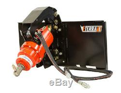 Skid Steer Auger System Post hole digging and More! Premium Eterra Auger 2500