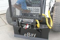Skid Steer Winch Attachment BSG 12,000 lb. Heavy Duty