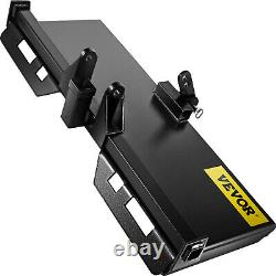 Skidsteer 3 Point Attachment Adapter Skid Steer trailer hitch front bobcat