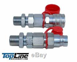TL104 3/4 ORFS Flat Face 1/2 Hydraulic Quick Connect Coupler Bulkhead Skid Steer