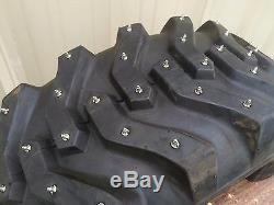 Tractor Loader Rubber Tire Studs Gripstuds Skid Steer #1800 Grip Studs 100pk Ice