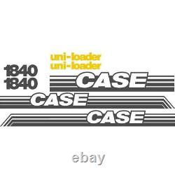 Whole Decal Set with Uni-Loader Decals Fits Case Skidsteer 1840 NS (New Style)