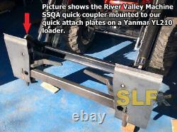 Yanmar Sa424 Sa 424 Yl210 Quick Attach Plates For Rvm Skid Steer Adapter Ssqa