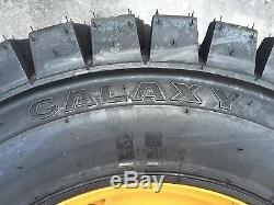 12-16.5 Galaxy Trac Étoile Pneus / Skid Steer Roues / Jantes Pour Case Xt Et 400 Série