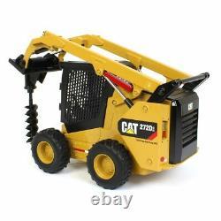 1/16 Cat Caterpillar 272d2 Skid Steer Loader Avec Pièces Jointes Par Ertl 85602