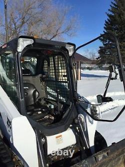 1/2 Bobcat S650 À S850 Lexan Broyeuse Mower Porte En Polycarbonate Skid Steer