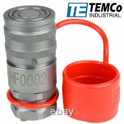 1/2 Npt Femelle Hydraulique Visage Plat Coupleur Quick Steer Bobcat Iso 16028