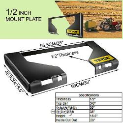 1/2 Quick Tach Attachment Mount Plate Receiver Skid Steer Adaptateur Free Shipping