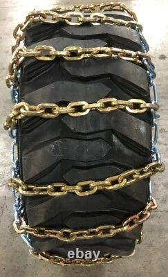 (1) Heavy Duty Skid Steer Tire Chain 12x16.5 12-16.5 8mm Square Link Bobcat