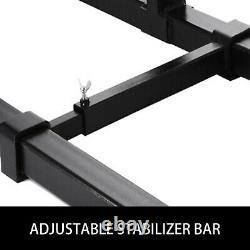 2000lbs Clamp On Pallet Forks Barre De Stabilisateur Réglable Pour Loader Skid Steer