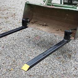 2000lbs Pince À Fourches À Palettes Du Godet Chargeur Skidsteer Tracteur Bar Chain