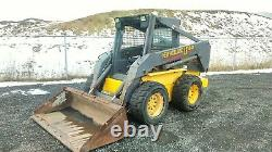 2002 Nouvelle Hollande Ls180 Skid Steer. Bobcat Avec Pièce Jointe Backhoe