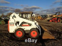 2007 Bobcat S175 Skid Steer, Orops, Bâtons / Pédales, Pneus Neufs, 2.110 Heures
