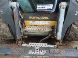 2011 New Holland L225 Mini Chargeuse Chargeuse Sur Pneus Aux Hyd 2-spd Cab Bidadoo Réparation