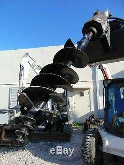 2016 Bobcat Marque 15c Skid Steer Auger Attachment Nouveau 12 Bits Inclus