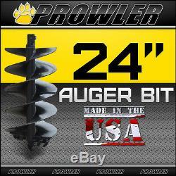 24 Auger Bit À Col Rond Pour Mini Chargeur 4' Longueur 24 Pouces
