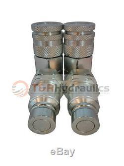 2 Paires 3/4 Npt Bobcat / Mini Chargeur Rapide Hydraulique (s)