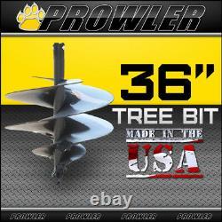36 Tree Auger Bit Avec Col Rond Pour Chargeuses De Dérapage 4' Longueur 36 Pouces