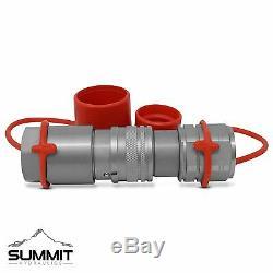3/4 Npt Plat Face Hydraulique Quick Connect Coupleurs Skid Steer Bobcat 4 Sets