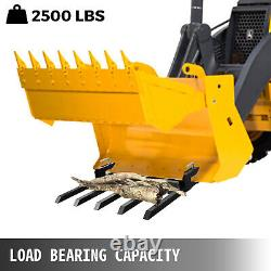 48 Clamp Debris Forks Tractor Skid Steer Loader Pallet Pallet Fourches Heavy Steel