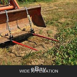 49 Tracteur Hay Spear & 2 Stabilisateurs Skid Steer 3000lb Capacité Heavy Duty
