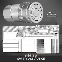 4 Ensembles 1/2 Npt Chargeurs Compacts Plats Face Hydrauliques À Connexion Rapide Pour Bobcat Coupleurs