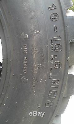 4 Nouveau 10x16.5 Skid Steer Pneus 10-16.5-10 Ply Devoir Évaluation-heavy, Non Directionnel