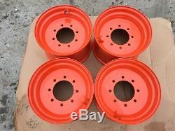 4 Nouveau 16.5x9.75x8 Skid Steer Roue / Jante Pour Bobcat Convient 12-16.5-s220, S250, S300