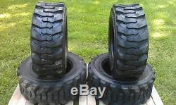 4 Nouveau Loadmax 12-16.5 Skid Steer Pneus 12 Ply Pour Bobcat Et Plus 12x16.5