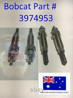 4 X Glow Plug 3974953 Pour Bobcat 643 645 743 1600 Avec Moteur Kubota D1402 V1702