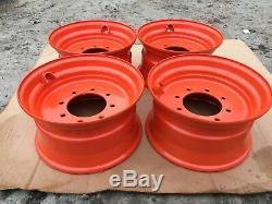 4 -new 16.5x8.25x8 Skid Steer Roue / Jante Pour Bobcat 742, 743, 751, 753, 763, 773