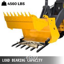60 Pince Sur Les Fourches De Débris Tracteur Skid Steer Chargeur Fixation Heavy Duty Steel