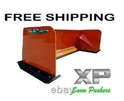 6' Xp24 Kubota Orange Snow Pusher Box Skid Steer Bobcat Case Free Shipping