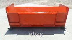 6' Xp30 Snow Pusher Box Kubota Orange Dérapage Steer Bobcat Free Shipping-rtr