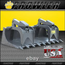 78 Pouces Heavy Duty Demo Grapple Bucket With Teeth 78 Skid Steer Fixation
