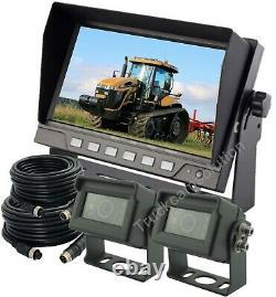 7 Système De Sauvegarde À La Vue Arrière 2-caméra Pour Dérapoir, Camion, Tracteur