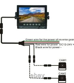7 Wired Digital Rear View Backup Reverse Camera System For Tractor, Skid Steer