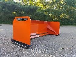 7' Xp30 Kubota Orange Dérapage Orienter Pousseur De Neige Bobcat Free Shipping- Rtr