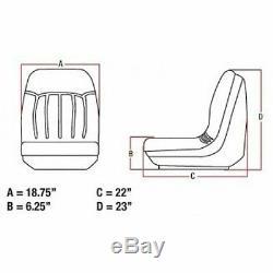 Black Seat Avec Des Pistes 6669135 Convient Fits Bobcat 542 641 653 463 742 763 773 853