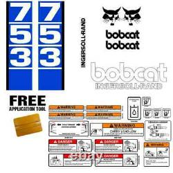 Bobcat 753 V1 Skid Steer Set Sticker Vinyl Decal Bob Chat Made In USA + Outils Gratuits