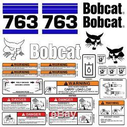 Bobcat 763 V2 Skid Steer Set Décalque De Vinyle Chat Bob Autocollant Made In USA 25 Set Pc