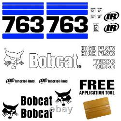 Bobcat 763 V2 Skid Steer Set Vinyl Decal Sticker Bob Chat Made In USA 20 Pc Set