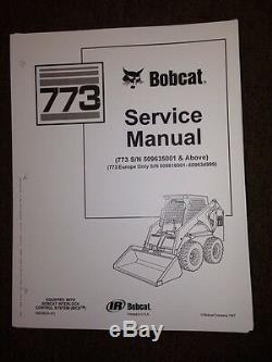 Bobcat 773 Manuel De Livre Mini 6.900.092 Nouveau