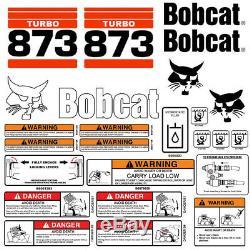 Bobcat 873 Turbo Skid Steer Set Décalque De Vinyle Autocollant Bob Chat Made In USA 25 Set Pc