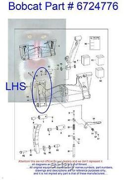 Bobcat Bobtach Levier Rapide Tach Kit Poignée Gauche Main Loquet 6724776 Kit De Reconstruction