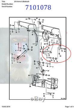 Bobcat Bobtach Pivot Pin Bush Kit 7101078 6730997 773 S100 S150 S160 S175 S185
