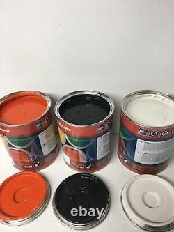 Bobcat Skidsteer White-cab Black-engine Cover Orange Émail Paint 1 Litre Tins